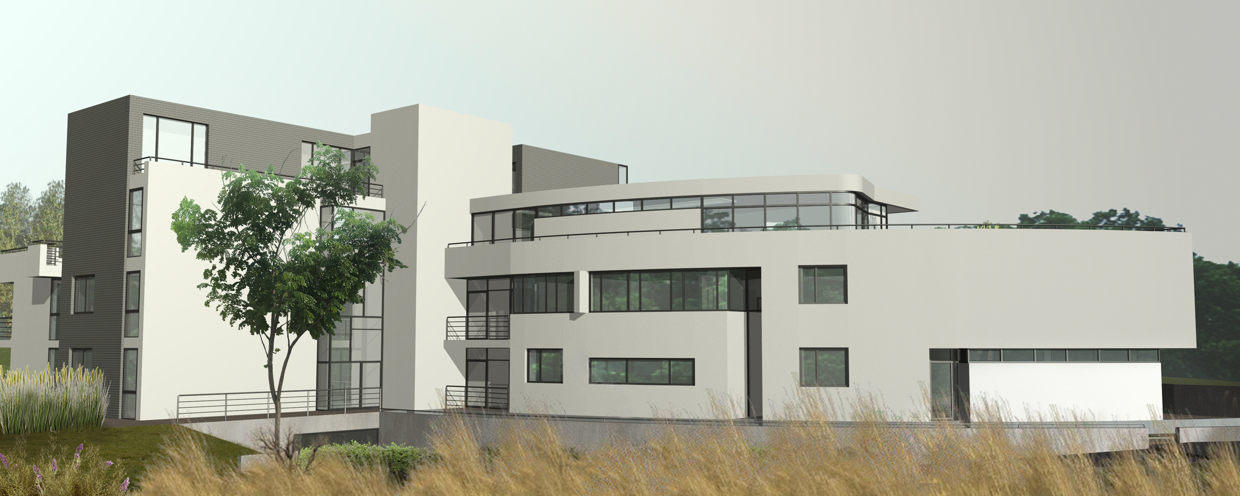 Immeuble appartements uccle eric willemart studio for L architecture moderne plan